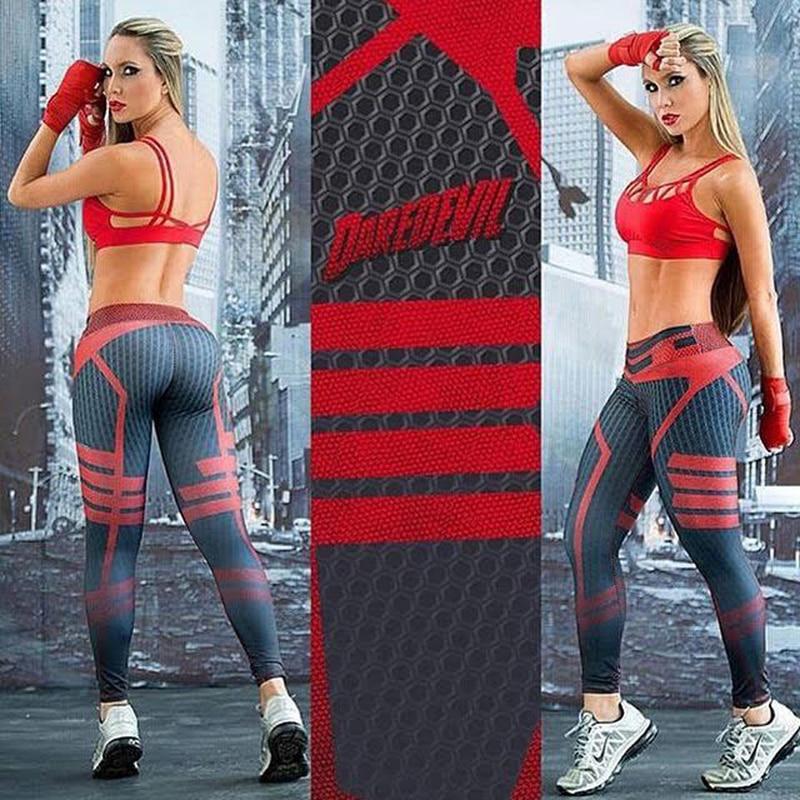 Woman Yoga Compression Pants Fitness Daredevil Leggings ...