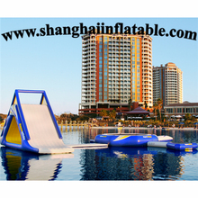 water sports game water slide and inflatable bouncer inflatable jumping bed