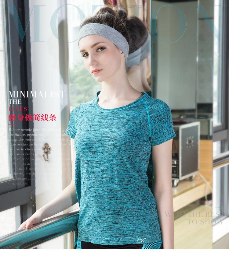 2016 Hot ! Nylon Womens Short Sleeve O-Neck Sports Quick Dry Breathable T-shirt Fitness Running Athletic Tees