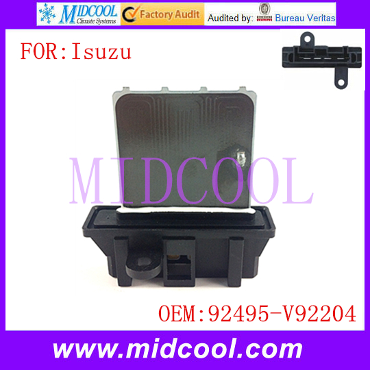 New Heater Blower Motor Resistor use OE NO. 92495-V92204 for Isuzu D-MAX Holden ColoradoNew Heater Blower Motor Resistor use OE NO. 92495-V92204 for Isuzu D-MAX Holden Colorado