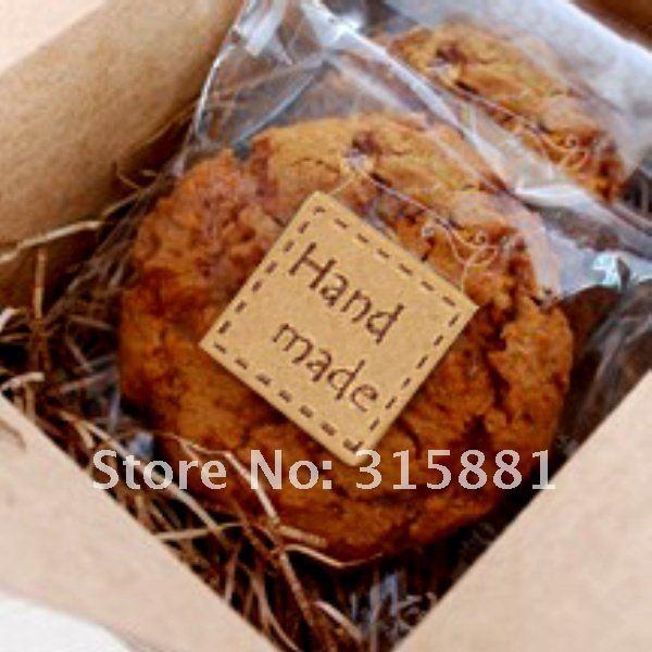 Милая квадратная наклейка для изделий ручной работы, печать наклейка s, кексы, печенье, шоколад, Подарочная наклейка s 2,5 см x 2,5 см
