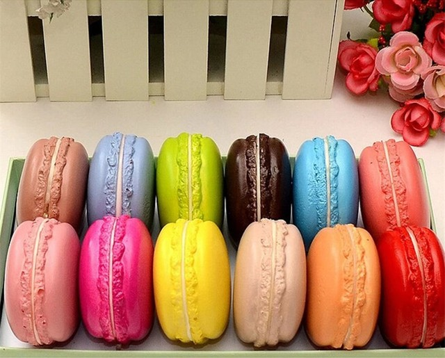 Slow Rising 1PC Kawaii Soft Squishy Macaron Dessert Cake Cute Cell phone Straps Kids Toys Gift Charms Cream Bread Scented