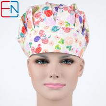 NEW Surgical caps doctors and nurses cap and printed cotton cap long hair bouffant hat free shipping(China)