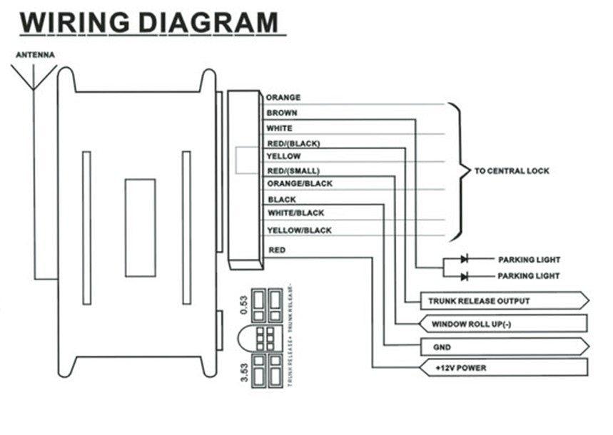 universal remote central locking wiring diagram