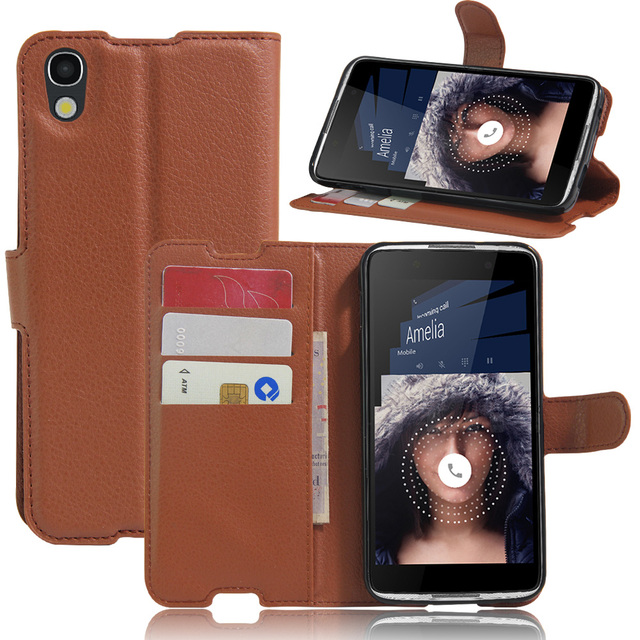 Luxury Carcasa Case For Alcatel Idol 4 5.2'' Phone Funda With Stand Wallet PU Leather Flip Cover Bags For BlackBerry DTEK50 Neon