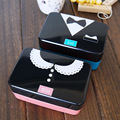 Patrones Creativos Kawaii Japonés Bento Lunch Box F730ml 2-Tier Bento Plástico Niños lonchera Contenedor de Alimentos