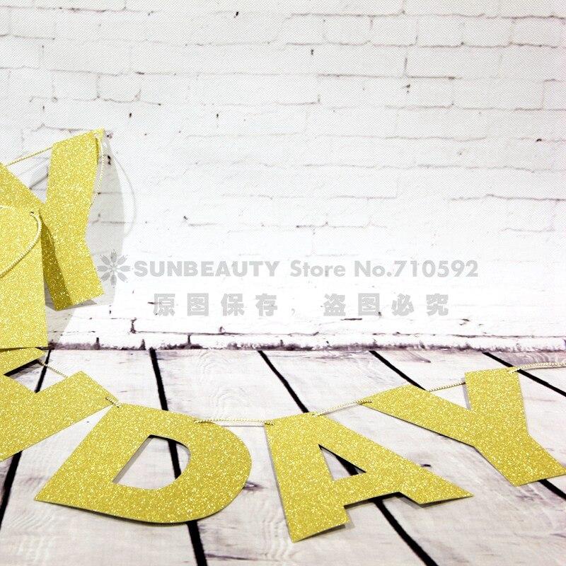 Алтын жарқыраған жарқыраған баннер - Мерекелік және кешкі заттар - фото 3