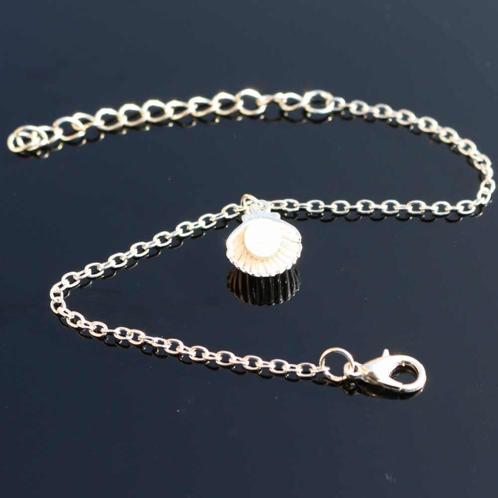 L205 Wrap bransoletka symulowane perły wisiorek Charm bransoletki i Bangles dla kobiet moda biżuteria Shell Chain pulseira feminina