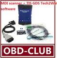 Новый Vauxhall / opel / g. M - MDI технологий 3 OEM уровень диагностический интерфейс MDI сканер поддержки глобального + TIS GDS Tech2Win программного обеспечения