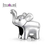 Lucky Bebé Elefante 100% 925 Sterling Silver Beads Charm Adapta Pandora Charms Pulsera Europea M