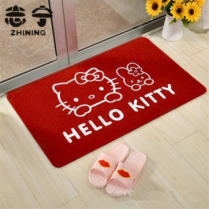 1PC lovely hello kitty carpet 40*60cm floor mat for living room bedroom doormat multicolor factory wholesale free shipping Y-454
