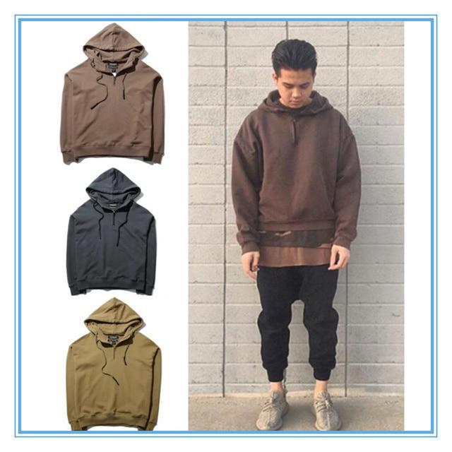 231abd66 2016 street wear hip hop men women jacket yeezys yeezy season 1 mens  clothing kpop clothes kanye west oversized hood hoodie XXL. Price: