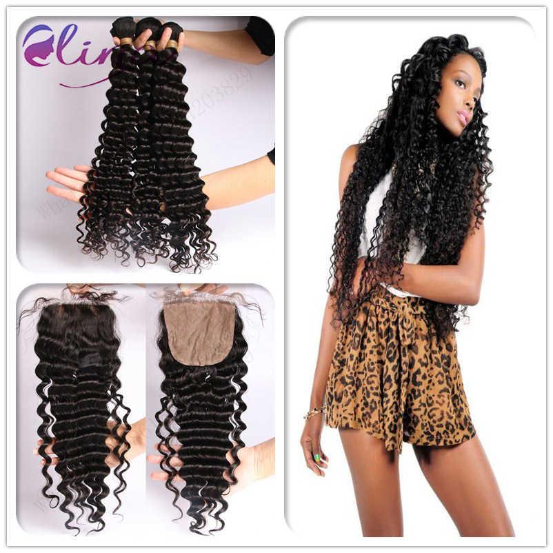 10А Перуанский шелк база закрытие с связки лучшие продажи волос ткачество и 3 шт.