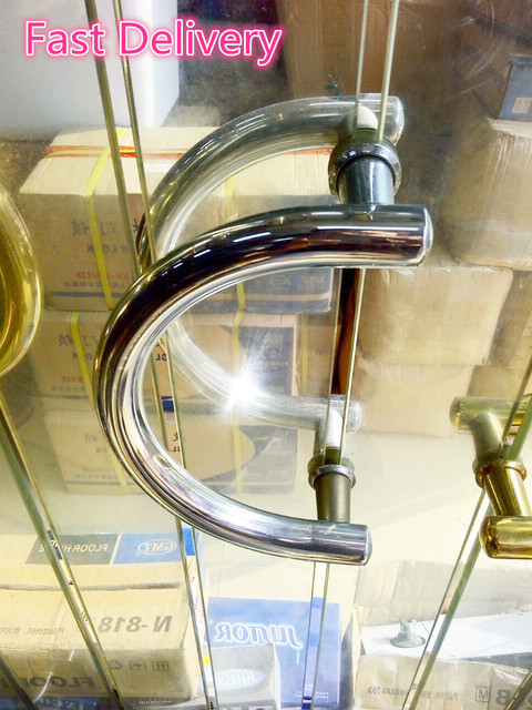 Fast Delivery Large semi-circular handle size 23cm Semi-circular glass door handles stainless steel handle DLS-23