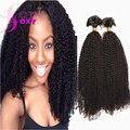 6A Grade Afro Kinky Curly Virgin Brazilian Hair Bulk Braiding Brazilian Kinky Curly Braiding Hair Virgin Human Hair Bulk