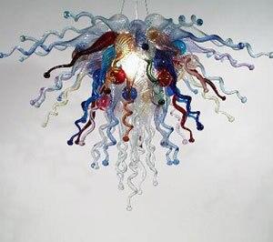 カラフルな花シャンデリアled電球手吹きムラノガラス用ホテル