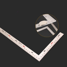 Stainless Steel protractor Angle Square 300*150mm Rectangular Device 90 Degree Woodworking measurement Tool