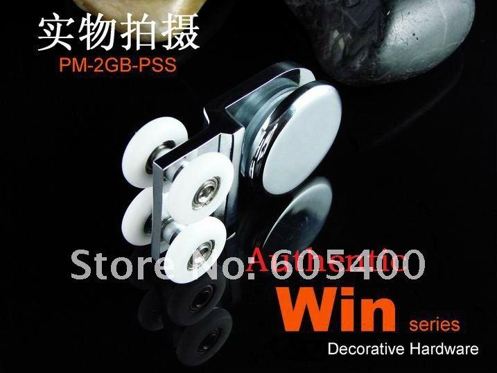 Роскошная ванная комната стеклянные двери ультра-тихий висит круглый(фиксированный колеса) PM-2GB-P cu
