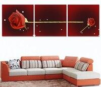3 Panel Ungerahmt Moderne Dekoration Wandkunst Bild Rose rotes Herz Leinwand Ölgemälde Leinwand Kunst Für Wohnzimmer zimmer