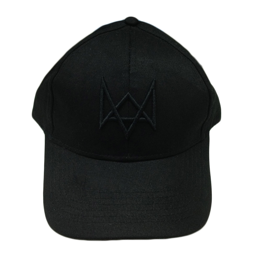 Watch Dogs Black Adjustable Cotton Cap Costume Cosplay Watch Dogs Hat High Quality For Men And Women Free Shipping