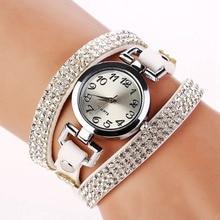 FUNIQUE 2017 Fashion Casual Women Watch Ladies Leather Bracelet Wristwatch Dress Female Women Girl Quartz Watch Dameshorloge