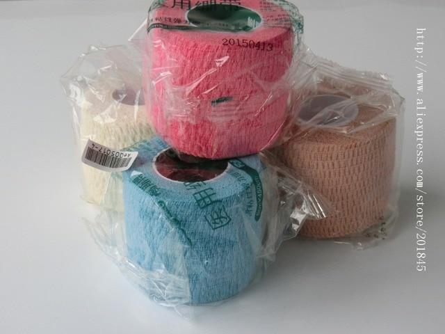 Self Adhesive Sports Elastic Tape Multicolour Cotton Bandage Medical Ankle Support Belt Sports Safety Tape Bandage 20Rolls/Pack