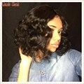 2016 новое поступление 7a короткие волны тела боб парик человеческих волос полный парики бразильского виргинские волос боб парики Glueless Cap
