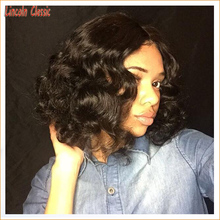 2016 New Arrival 7a Short Body Wave Bob Wig Human Hair Full Lace Wigs Brazilian Virgin Hair Bob Lace Wigs Full Lace Glueless Cap