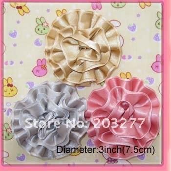 36 шт/партия 10 цветов на ваш выбор 8 см цветы из атласной ленты