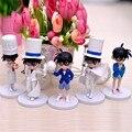 5 unids/lote Detective Conan Caso Cerrado Mini Kawaii Versión 11-14 cm Acción PVC Figura Juguetes De Colección, Kid Toy Anime Brinquedos