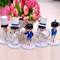 5pcs/lot Detective Conan Case Closed Mini Kawaii Version 11-14cm PVC Action Figure Toys For Collection, Kid Toy Anime Brinquedos