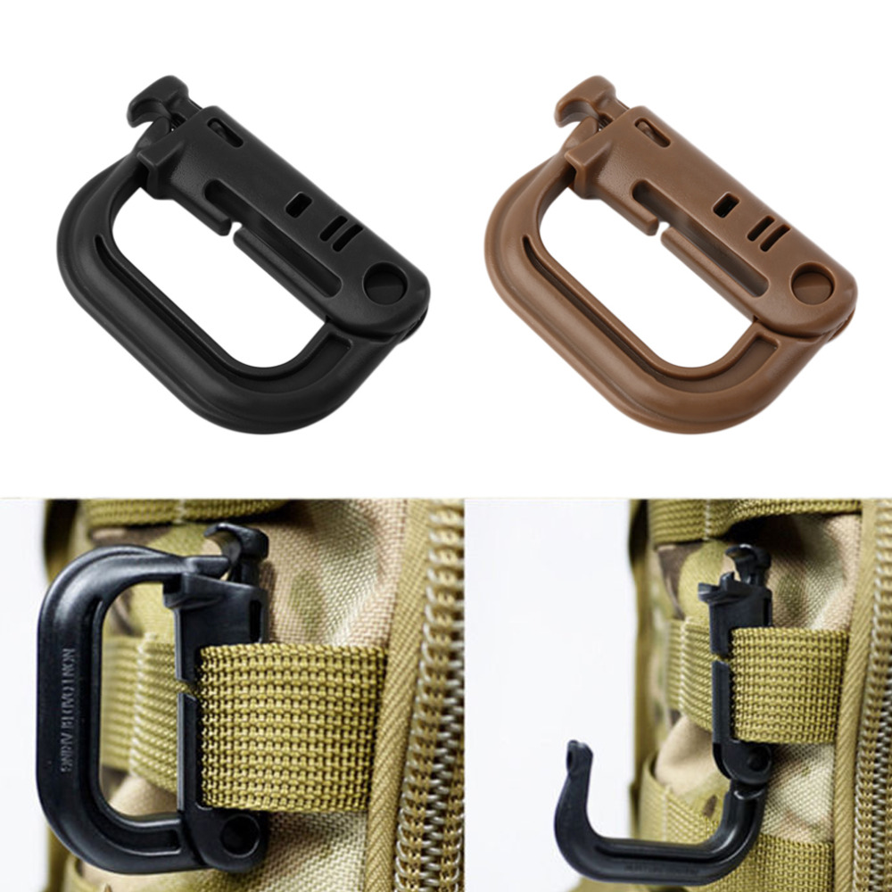 1pcs 5.5*3.8cm PVC Climbing Carabiner Screw Lock Bottle Hook Buckle Hanging Padlock Keychain Camping Hiking Snap Clip Equipment