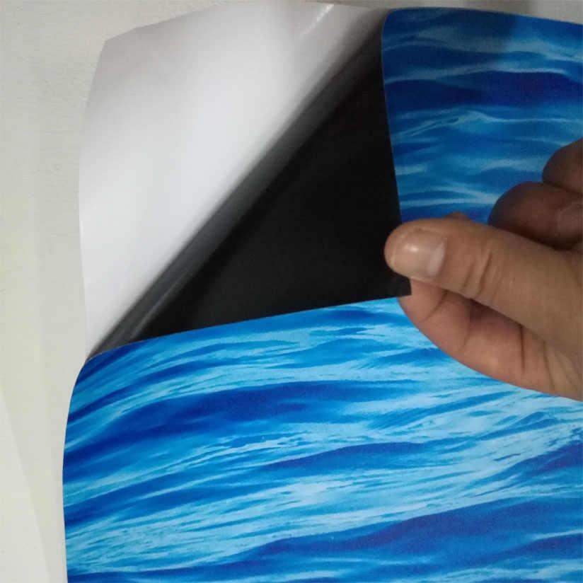 תמונה מותאמת אישית קיר נייר 3D סטריאוסקופית להבה אמבטיה רצפת קיר ללבוש החלקה מעובה PVC עצמי דבק רצפת טפט