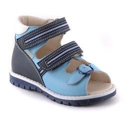 Sandalen voor jongen lederen orthopedische binnenzool met boog ondersteuning fabriek Skorokhod Russische laarzen