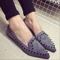 Os novos 2016 edição han sapatos único das Mulheres moda calçado sapatos ponto Plana sapatos de conforto das mulheres