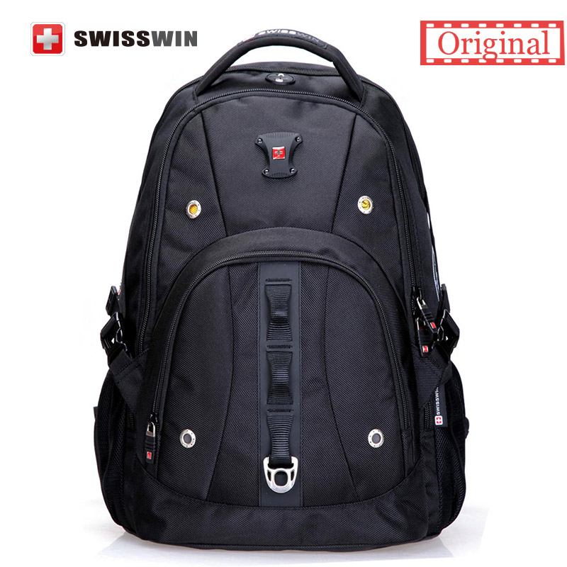 Swisswin Brand Mens Backpack Bag Fashion Casual Male Daypack Quality 15 Laptop Music Backpack for Students