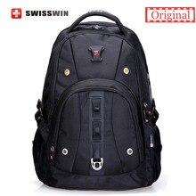 """Swisswin marke mens rucksack tasche mode lässig männer daypack qualität 15 """"laptop musik rucksack für studenten mochila escolar"""