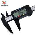 150mm 6 pulgadas LCD Digital Electronic Vernier Caliper Micrómetro De Fibra De Carbono envío gratis