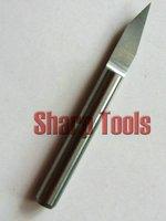10 шт. 3.175 мм хвостовик, 30 угол, 0.2 мм совет, V-образный в форме плоским днищем катера, биты, карбид фреза, деревообрабатывающий инструмент