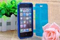 мягкий гель тпу флип-Crash чехол для iPhone 5 и 5s бесплатная доставка с 9 цветов