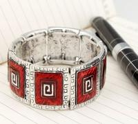 высокое качество сплава год сбора винограда площади эмаль браслеты эластичные браслеты оптовая продажа ювелирных изделий bs7570