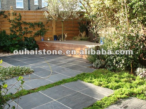 supply natural garden flooring slate paving stone for outdoor and indoor