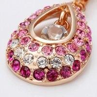 18kgp n034 pow глаз розовый ювелирные изделия, 18 к Порше, покрытие из белого золота ожерелье, никель бесплатно, rustle