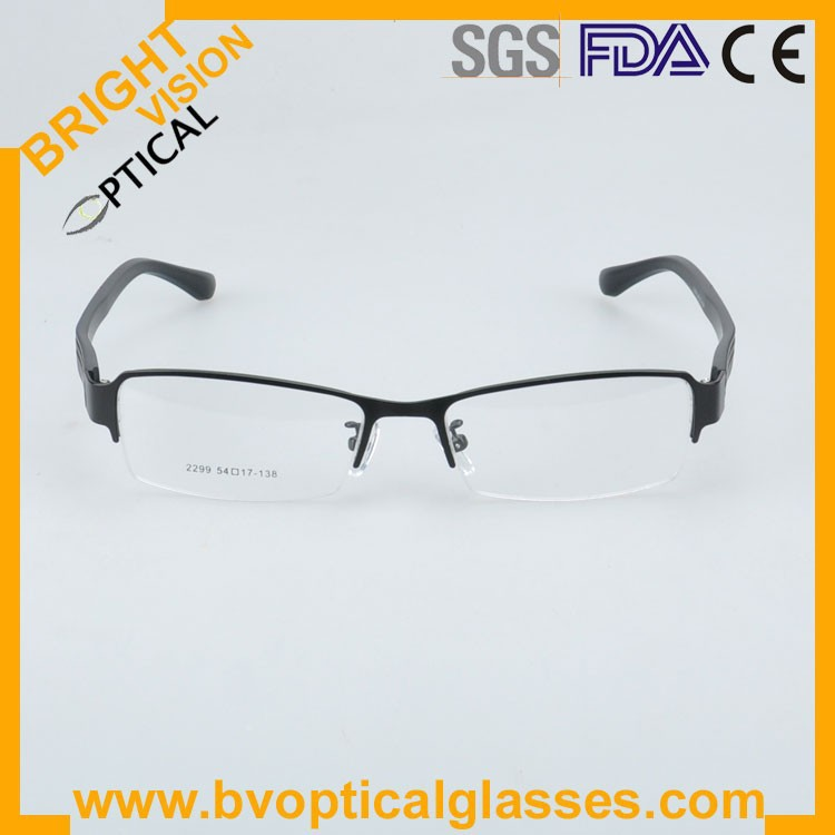 2299blackfront Factrory price half rim vintage optical frames eyewear glasses
