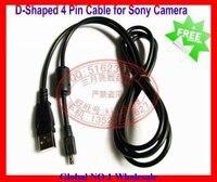 5 шт./лот новый д в форме 4 контакт. кабель USB кабель для камеры для фотоаппарат Сони модель DSC-с50 в MVC-cd1000 плеер ДСК с70 модель DSC-f505 и
