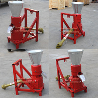 PTO animal feed pellet mill wood sawdust pellet machinery driven by tractor