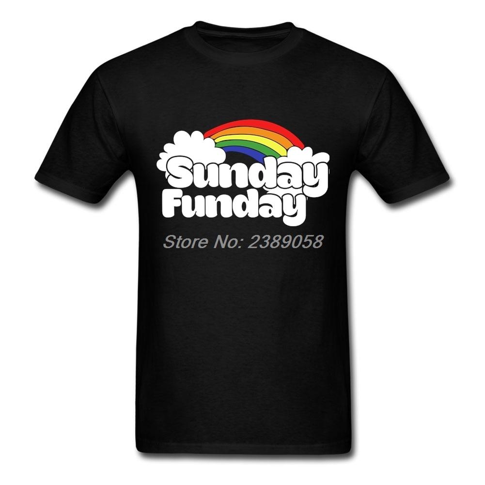 415f7d51f Marka Funday Niedziela W Nowym Stylu Męskie koszulki z krótkim rękawem t  shirt Z Krótkim Rękawem O Neck Hurtownie Tee Men