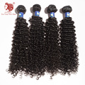 4pcs/lot 6A Deep curl Brazilian Hair Weaving 100% Human Hair Extension Natural Black 12-30'' For Your Nice Hair Free Shipping