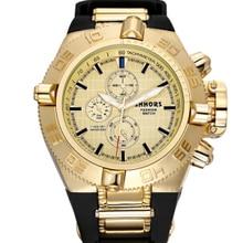 SHHORS Mens Watches Top Brand Rubber Big Watch