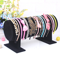 1 Pcs/lot Black Suede Show Jewelry Accessory Holder Bracelet Earring Watch Head Hoop Band Jewelry Frame Stand Display Showcase